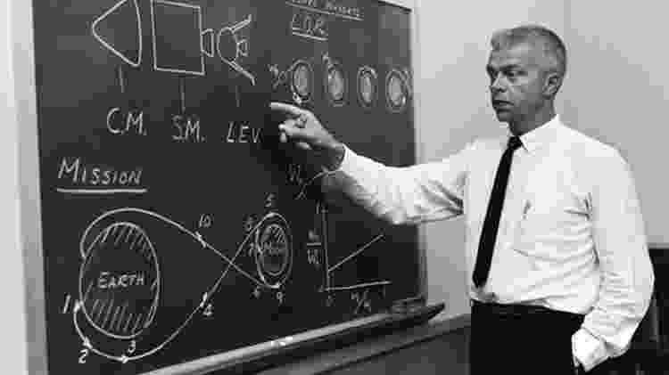 John Houbolt se apresenta num seminário da Nasa nos anos 1960 - Nasa - Nasa