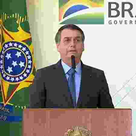 Bolsonaro durante evento de celebração ao Dia Internacional da Juventude - Reprodução/TV Brasil