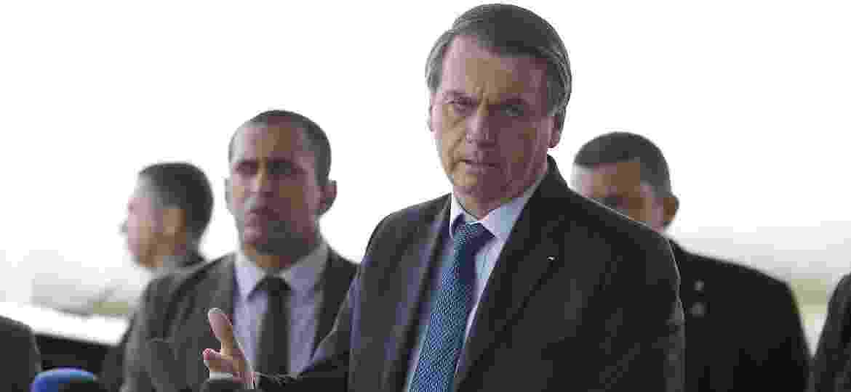 Presidente Jair Bolsonaro durante coletiva de imprensa no Palácio da Alvorada, em Brasília - 02.set.2019 - Dida Sampaio/Estadão Conteúdo