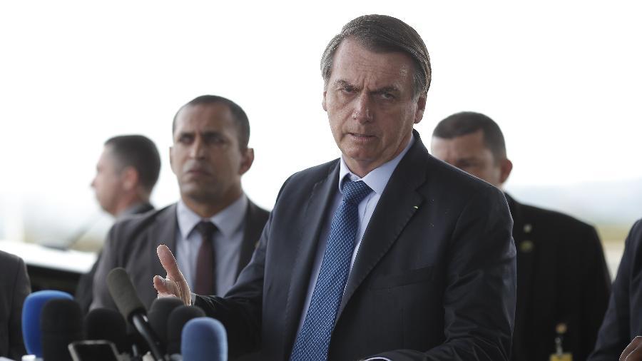 Presidente da República, Jair Bolsonaro, fala à imprensa no Palácio da Alvorada, em Brasília - 02.set.2019 - Dida Sampaio/Estadão Conteúdo