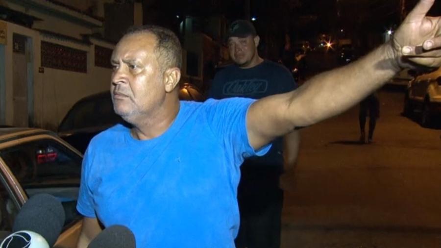 Ailton Félix, avô da menina Ágatha, que morreu após ser baleada no Complexo do Alemão - Reprodução/TV Globo