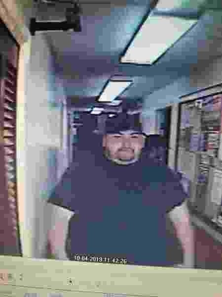 Polícia divulgou imagens de Heath Bumpous assaltando um banco no Texas - Trinity County Sheriff Woody Wallace