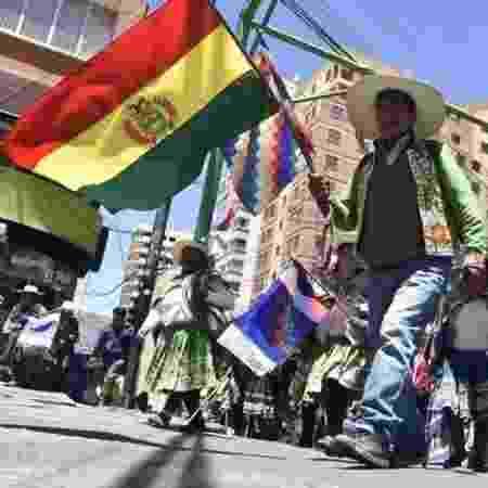 Bolívia enfrenta onda de manifestações populares nas últimas semanas - AFP/GETTY IMAGES