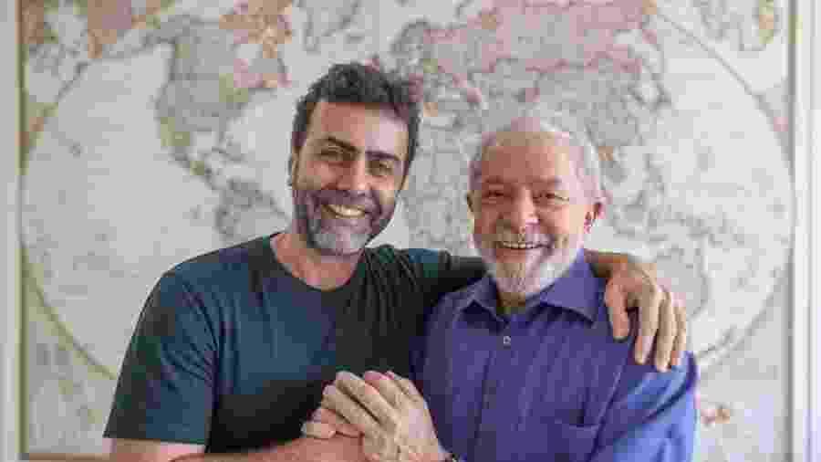 Deputado Marcelo Freixo e o ex-presidente Lula, após a reunião de ontem - Ricardo Stuckert, Instituto Lula
