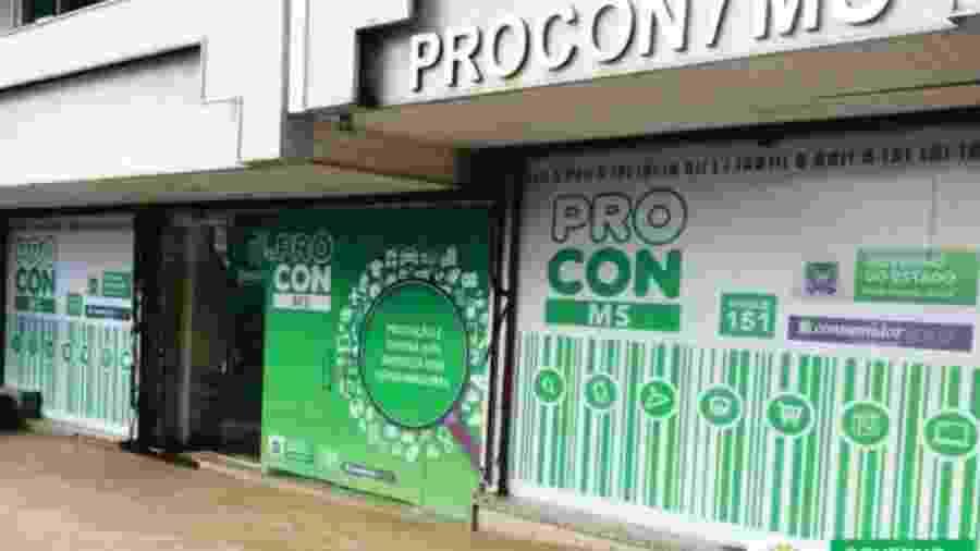 Fachada Procon-MS, em Campo Grande - Divulgação