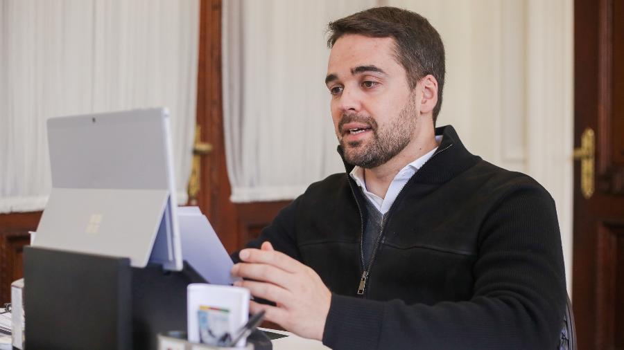Governador do Rio Grande do Sul diz que se preocupa com andamento do plano nacional de vacinação contra a covid-19 - Felipe Dalla Valle/Palácio Piratini