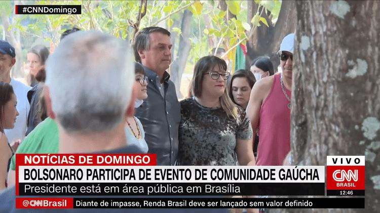 Bolsonaro + gaúchos - Reprodução/CNN Brasil - Reprodução/CNN Brasil