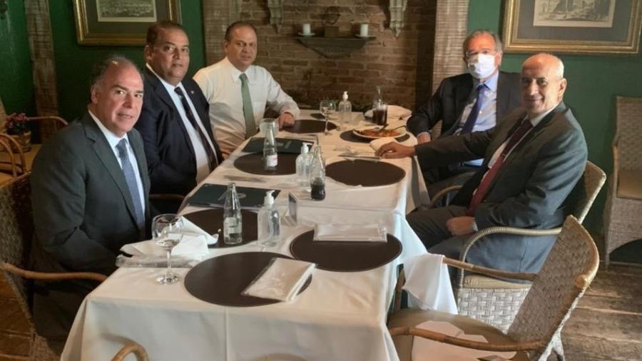 Ministros Guedes, Ramos e presidente do BC terão encontro com Lira e líderes na residência oficial da Câmara - reprodução/redes sociais