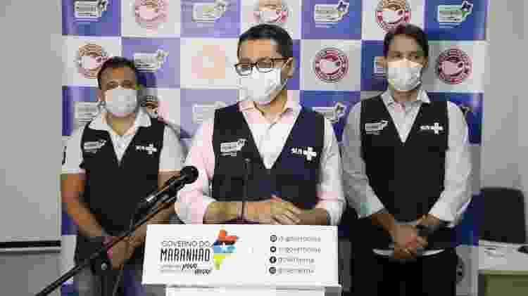 20.mai.2021 - Coletiva de imprensa da Secretaria de Saúde do Maranhão  - Divulgação/Secretaria de Estado da Saúde - Divulgação/Secretaria de Estado da Saúde