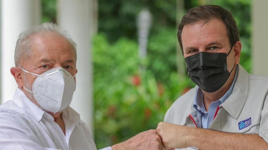 11.jun.2021 - Lula e Eduardo Paes almoçaram no Rio de Janeiro  - Ricardo Stuckert
