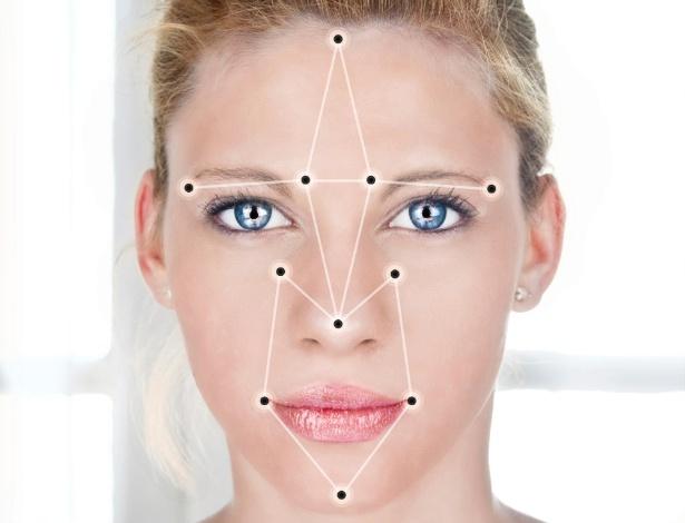 Durante reconhecimento facial, pontos do rosto são esquadrinhados para criar um cadastro biométrico facial. - iStock