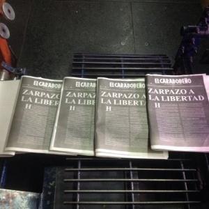 Última edição impressa do jornal venezuelano El Carabobeño