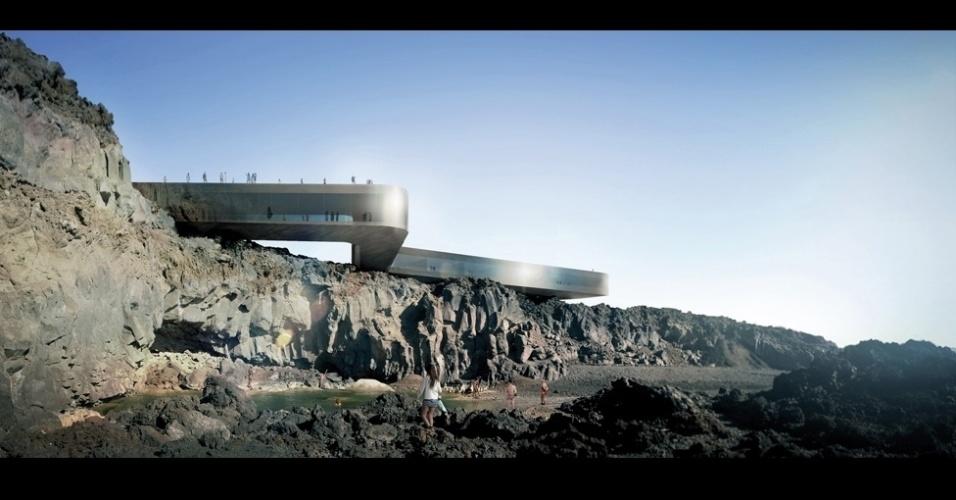 """Um complexo de spa criado pelo escritório GPY Arquitectos que faz uma """"ponte"""" na paisagem costeira da ilha de La Palma, Espanha, e foi o projeto vencedor na categoria Comércio e Lazer."""