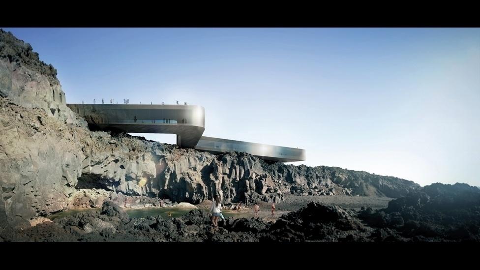Um complexo de spa criado pelo escritório GPY Arquitectos que faz uma