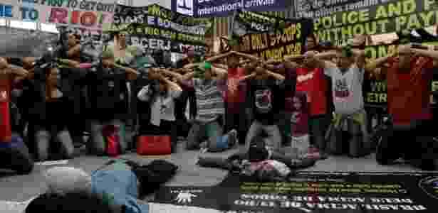 protesto bombeiros e policiais rj - Daniel Scelza/Estadão Conteúdo - Daniel Scelza/Estadão Conteúdo