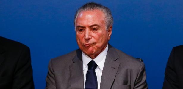 O presidente Michel Temer durante evento do governo federal, em Brasília