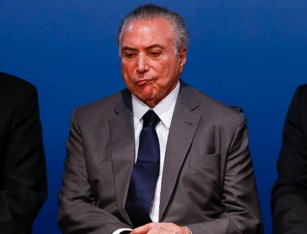 Presidente Michel Temer durante evento nesta quarta-feira, dia de protestos pelo Brasil