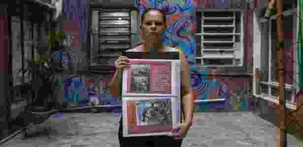 A gerente operacional Cheila Patricia Souza em ocupação da avenida São João, centro de São Paulo - Gabo Morales/UOL - Gabo Morales/UOL