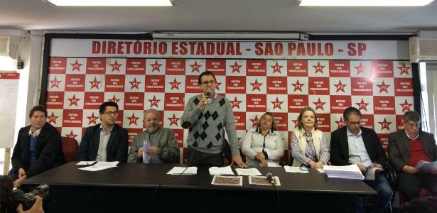 Ex-presidente Luiz Inácio Lula da Silva participa de reunião com membros das executivas nacional e federal do PT em São Paulo