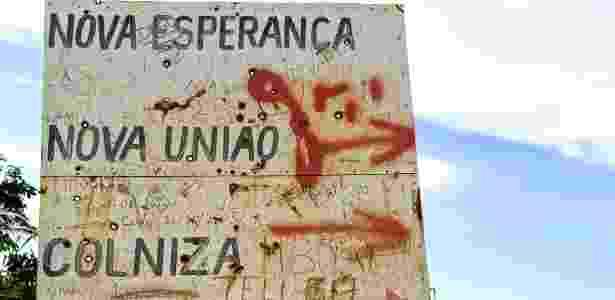 Placa Colniza - Ahmad Jarrah/Repórter Brasil - Ahmad Jarrah/Repórter Brasil