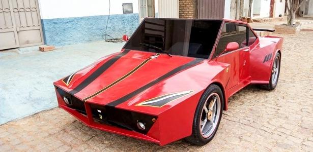 Jovem investiu R$ 6 mil para desenvolver 'Ferrari' artesanal na Bahia