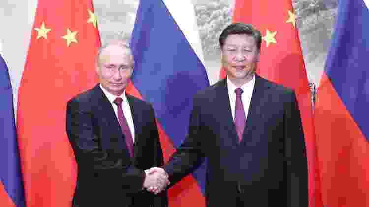 - Presidente chinês Xi Jinping e o presidente russo Vladimir Putin em Pequim, na China - Ju Peng - 8.jun.2018/Xinhua - Ju Peng - 8.jun.2018/Xinhua