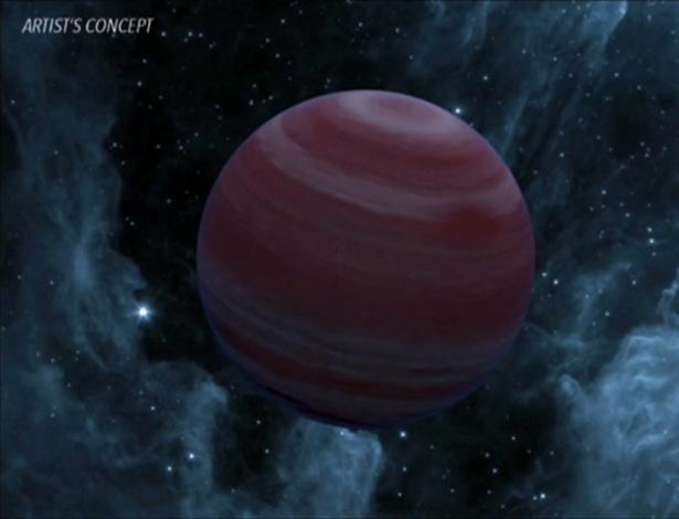 Conceito artístico mostra planeta descoberto pelo telescópio Kepler