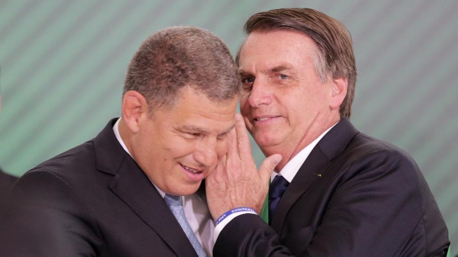 Gustavo Bebianno e o presidente Jair Bolsonaro - Fátima Meira/Futura Press/Folhapress