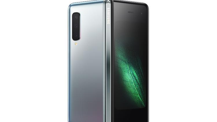 Visão traseira do Galaxy Fold, o celular de tela dobrável da Samsung - Samsung/Divulgação