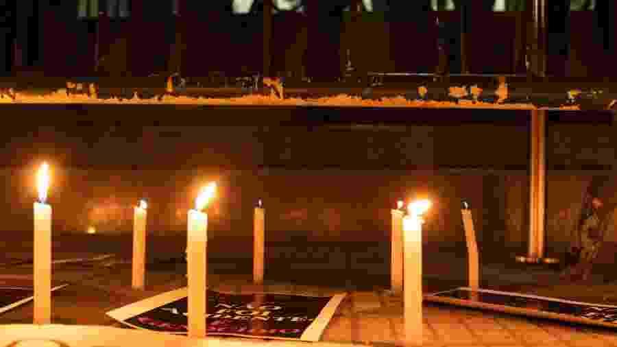 4.dez.2019 - Ato em solidariedade aos mortos de Paraisópolis na Secretaria de Segurança Pública em São Paulo - DANILO M YOSHIOKA/ ESTADÃO CONTEÚDO