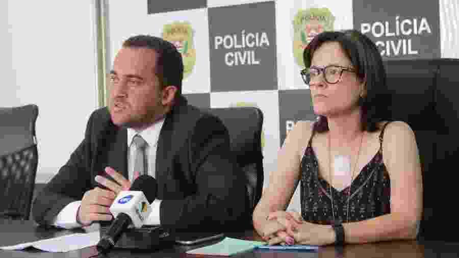 Ricardo Gurgel, delegado da Polícia Civil de Brasília, e Fabiola de Oliveira Alves, titular da equipe de São Paulo - Kevin Costner