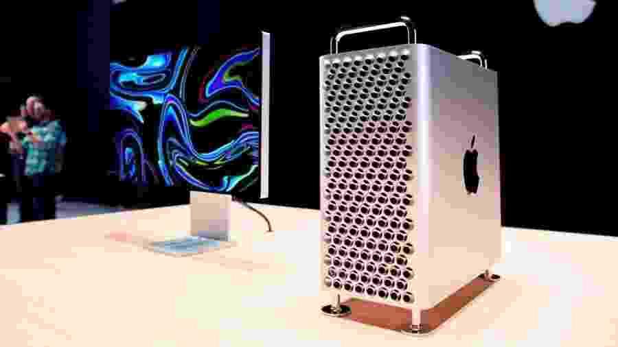 A configuração básica do Mac Pro não inclui o monitor Pro Display XDR, que custa o mesmo que o computador - Getty Images