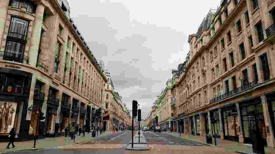 Vista geral de Oxford Circus, em Londres, durante a pandemia do novo coronavírus - John Sibley/Reuters