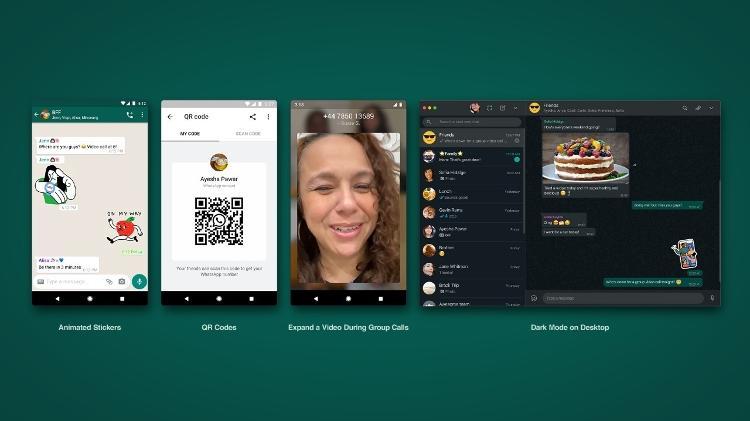 pacote de novidades do whatsapp - Reprodução - Reprodução