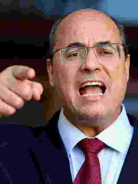 Wilson Witzel (PSC-RJ) faz pronunciamento após ser afastado do cargo de governador do Rio de Janeiro - WILTON JUNIOR/ESTADÃO CONTEÚDO