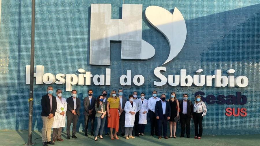 Integrantes do PPI (Programa de Parcerias de Investimentos), da Economia, e do Ministério da Saúde visitam o Hospital do Subúrbio em Salvador  - Divulgação/Ministério da Economia