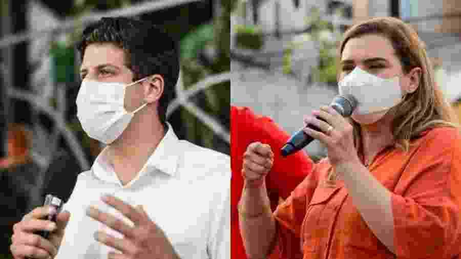 Primos de 2º grau, João Campos (PSB) e Marília Arraes (PT) disputam a Prefeitura do Recife - Reprodução/Facebook
