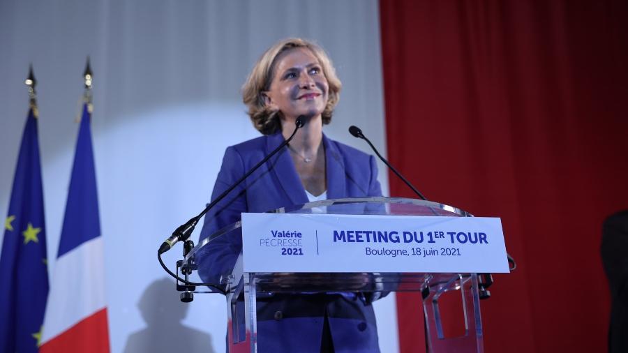 Valérie Pécresse é presidente do movimento Livres (direita) e pertencia ao Os Republicanos (LR), principal oposição ao governo de Emmanuel Macron no Parlamento. - Reprodução/Twitter @vpecresse