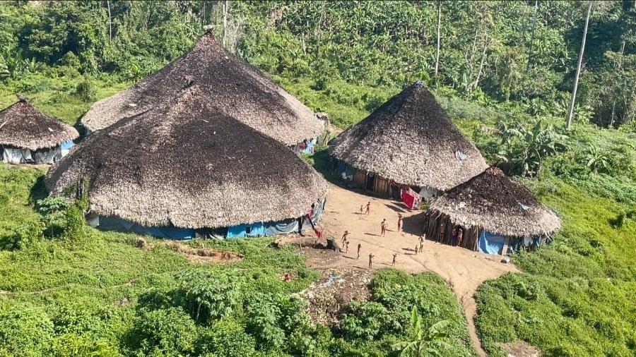 Comunidade do Xaruna, região do Parima, em Roraima; conselho diz que duas crianças morreram por falta de socorro - Divulgação/Condisi-YY