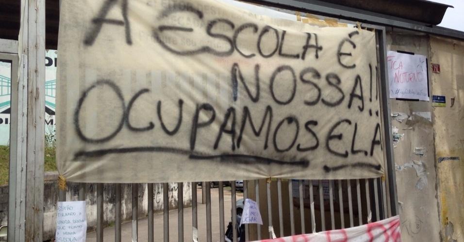 10.nov.2015 - Escola Estadual Diadema é ocupada por estudantes em protesto a reorganização escolar na rede pública