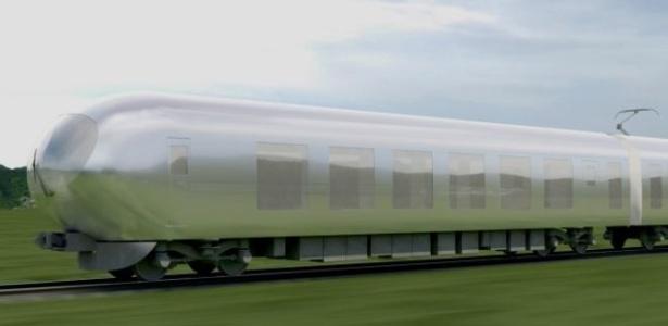 Modelo será revestido de materiais super-refletores e transparentes, permitindo que comboio se encaixe de forma harmoniosa na paisagem urbana ou rural