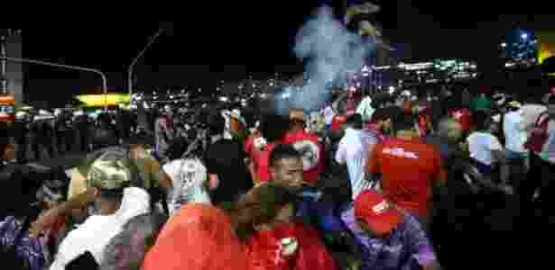 Gás de pimenta em protesto em Brasília - Daniel Teixeira/Estadão Conteúdo - Daniel Teixeira/Estadão Conteúdo