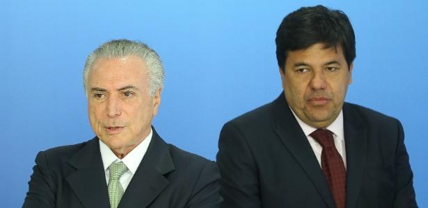 O presidente Michel Temer participa de cerimônia junto com o ministro da Educação, Mendonça Filho