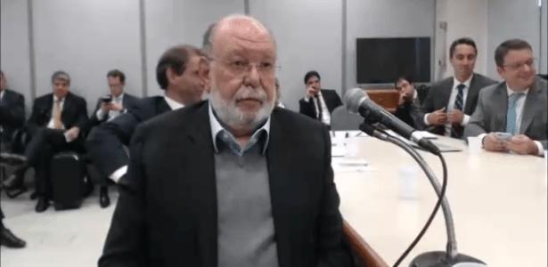 Léo Pinheiro, ex-presidente da construtora OAS, durante depoimento ao Moro - Reprodução
