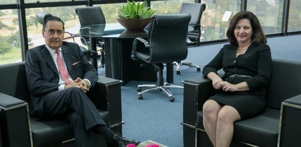PGR Raquel Dodge em reunião com o desembargador Thompson Flores, presidente do TRF4