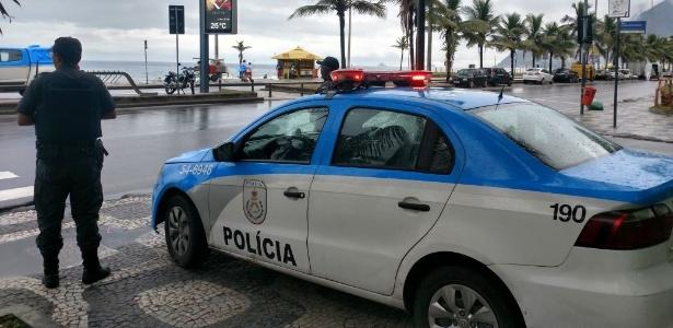 PM do RJ divulga imagem de patrulhamento na orla do Rio - Divulgação/PMERJ