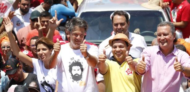 Haddad faz campanha com os governadores Rui Costa e Paulo Câmara