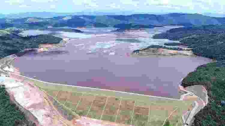 A barragem de Itabiruçu, em Itabira (MG), é uma das maiores barragens de rejeito de minério de ferro do Brasil - Vinícius de Souza/O Trem Itabirano