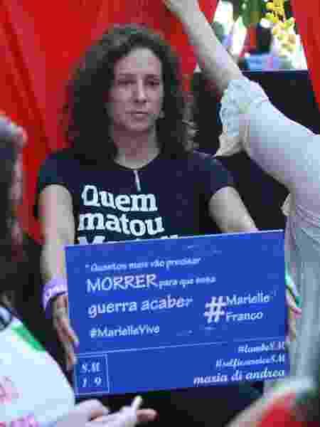 08.03.2019 - Mônica Benício, viúva da vereadora assassinada Marielle Franco - Jose Lucena/Futura Press/Estadão Conteúdo