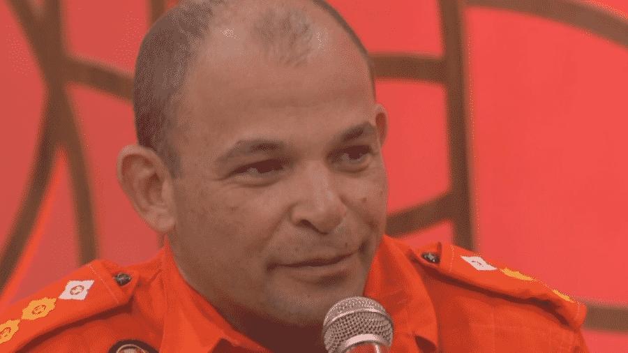 O Tenente Coronal Rodrigo Bastos, no Encontro com Fátima Bernardes - Reprodução/Globoplay